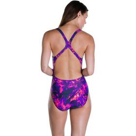 speedo FlyingFlash Allover Powerback - Bañador Mujer - rosa/violeta